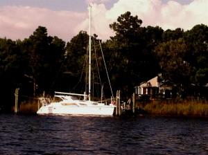 Yacht A Fun at Fairfield Harbor residential dock