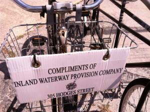 Inland Waterway provisioning Company loaner bike