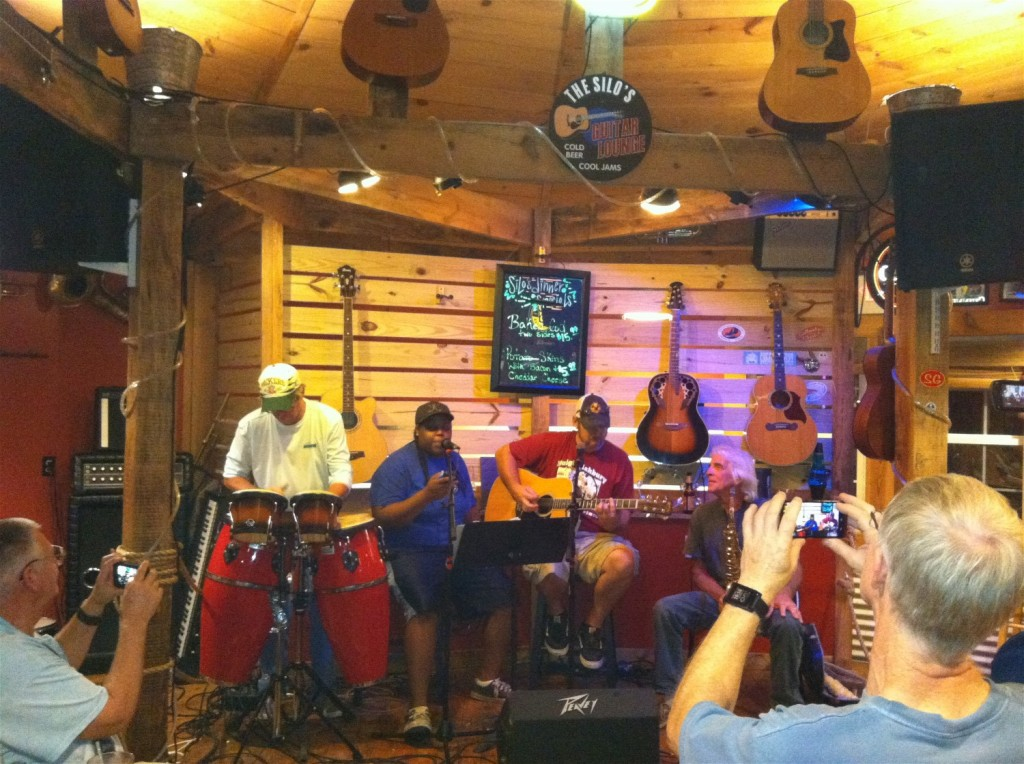 Local folks jam and sing