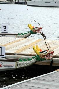 Bow location of Dragon Boat Heads