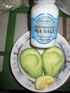 Fresh lemon and sea salt