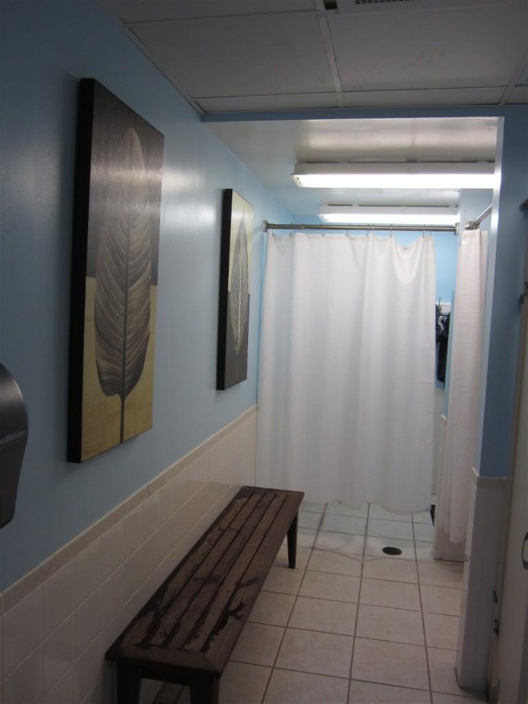 Freshly cleaned showers