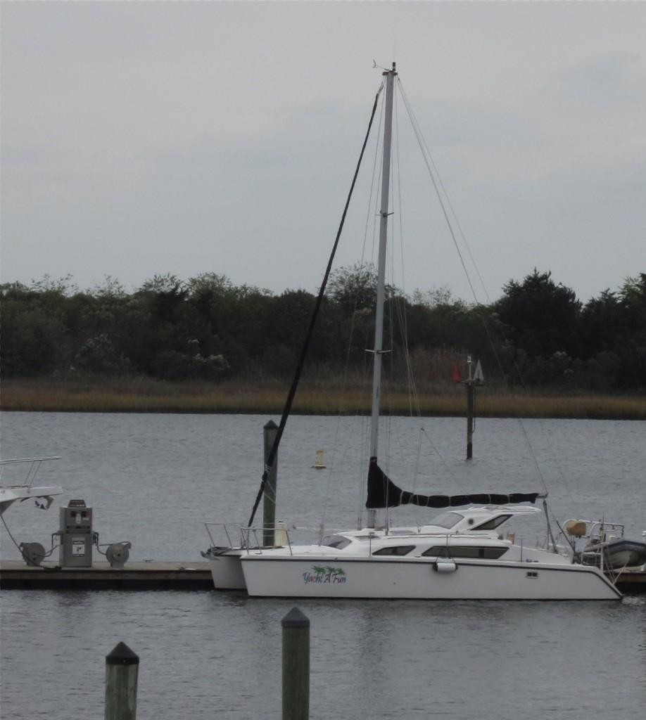 Yacht A Fun awaiting Saturday departure