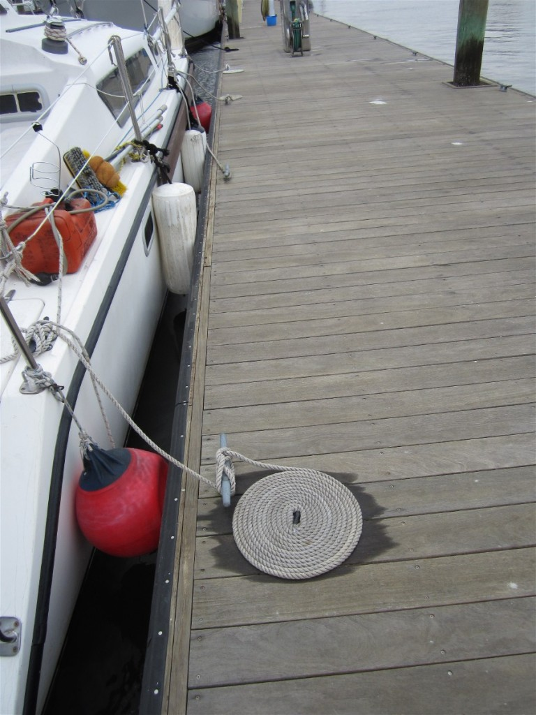 Extra fenders to protect our Gemini catamaran hull