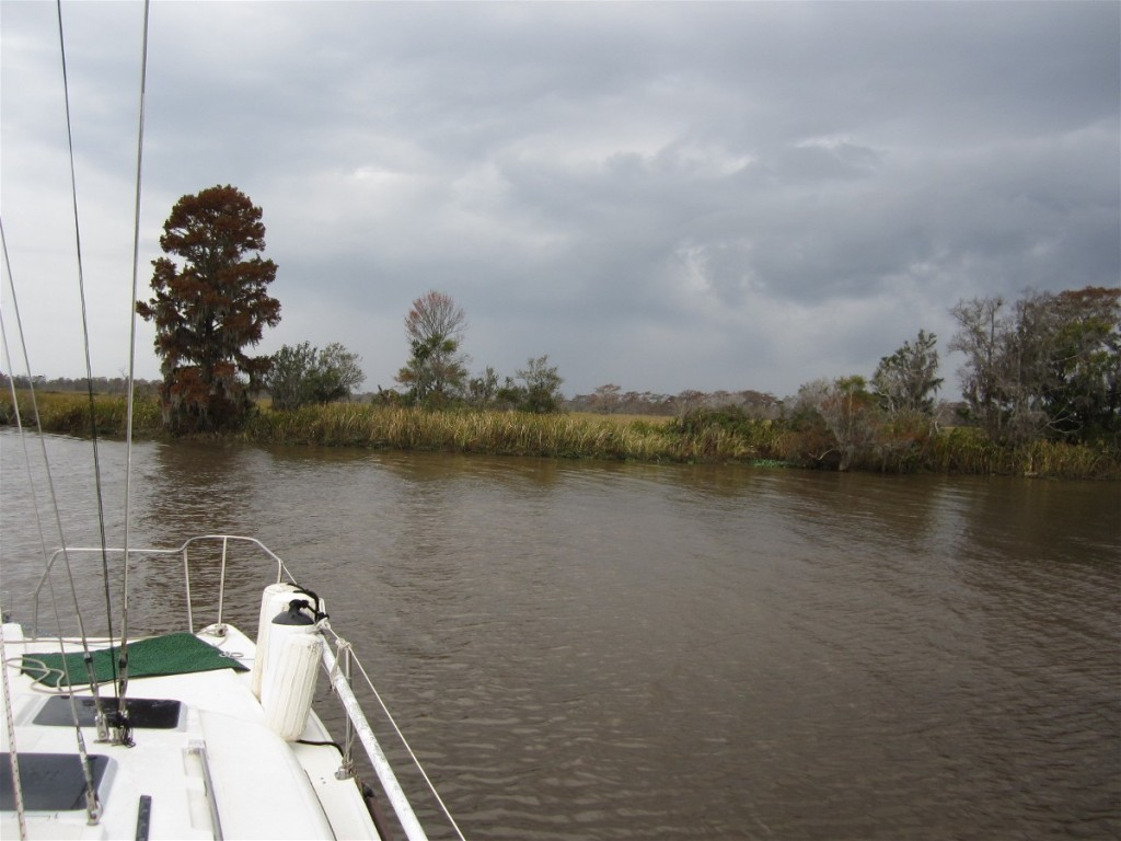 Rain Storm clouds formed after we arrived at Jericho Creek anchorage