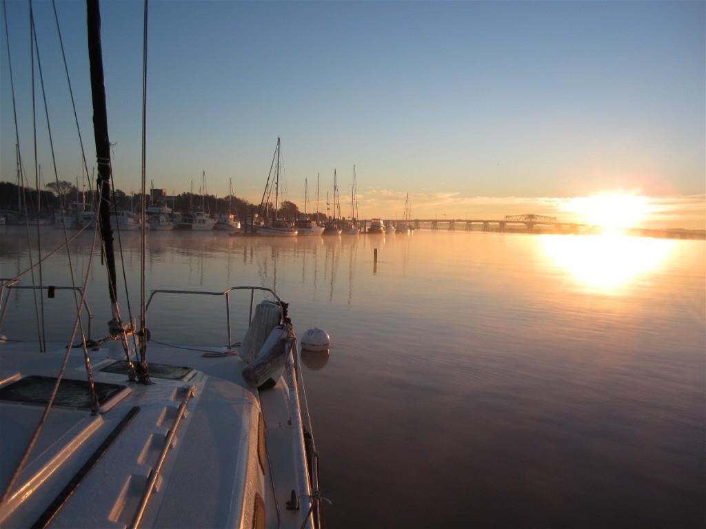 Sunrise at Beaufort SC moorings