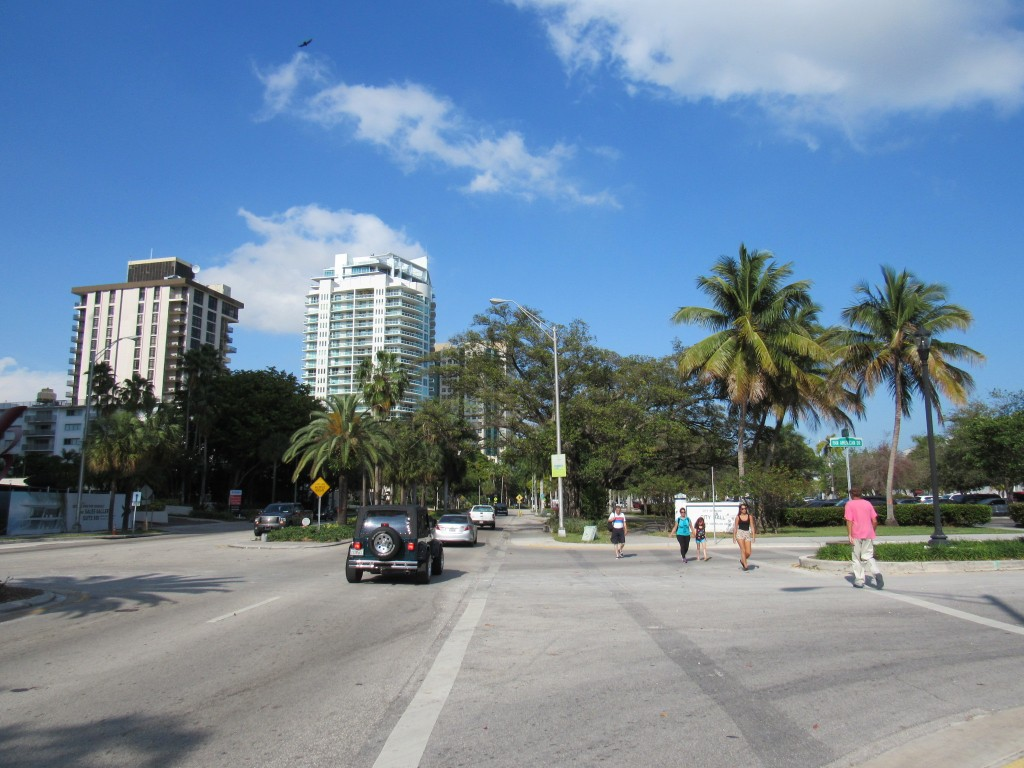 During the festival, this intersection was full of vendors and people