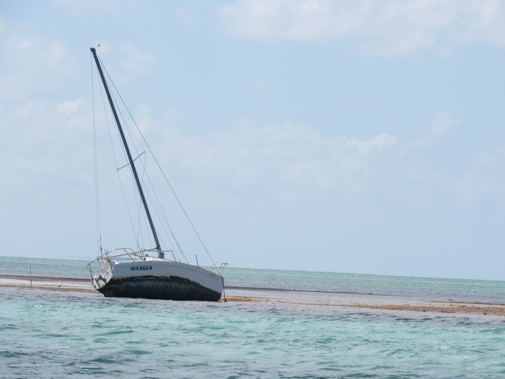 Boat lost to shoal