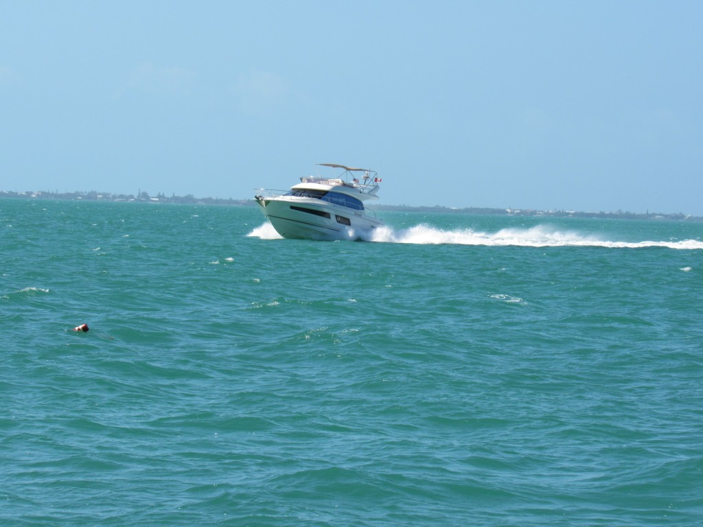 Many larger power boats ignored the crab pot buoy and line hazards and literally cut through  them