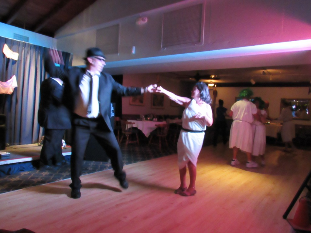 Diann dances with Elrod.