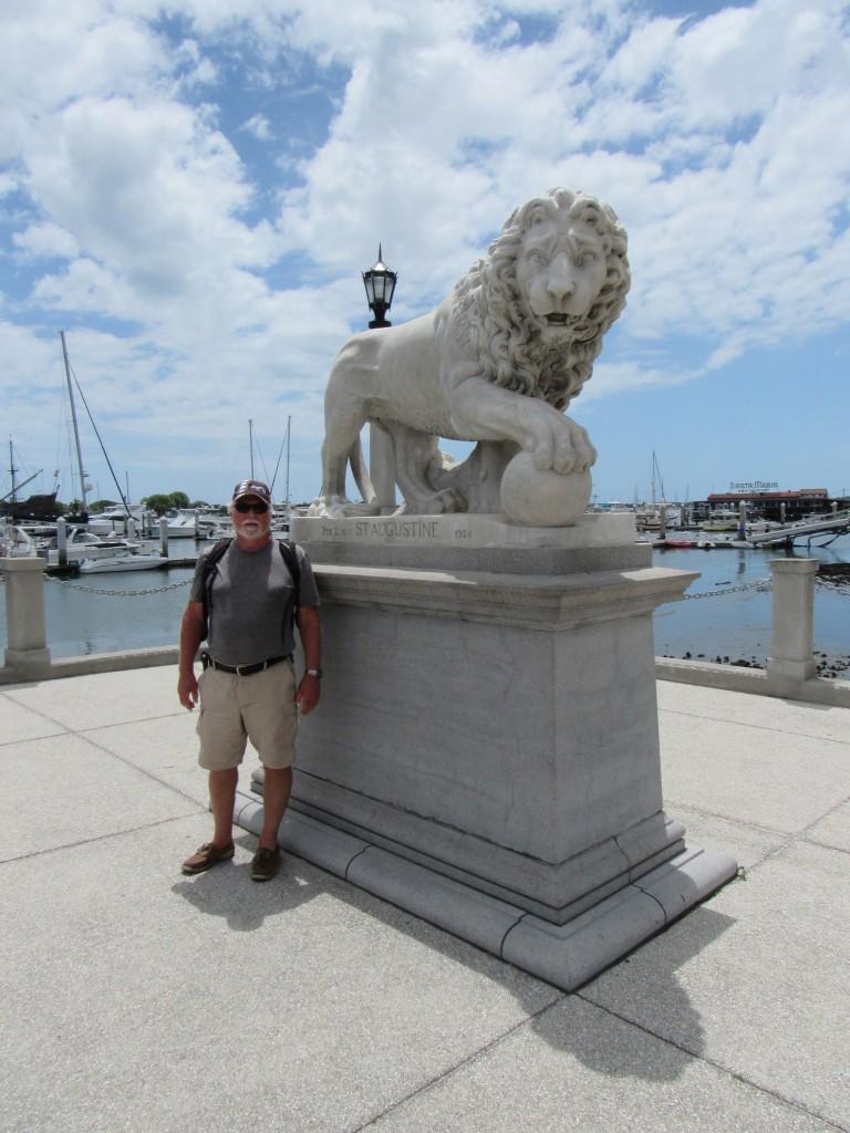 David at the Bridge of Lions