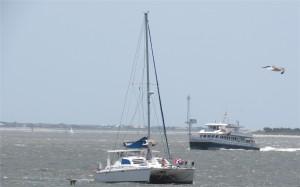 Baldhead ferry Sailboat web