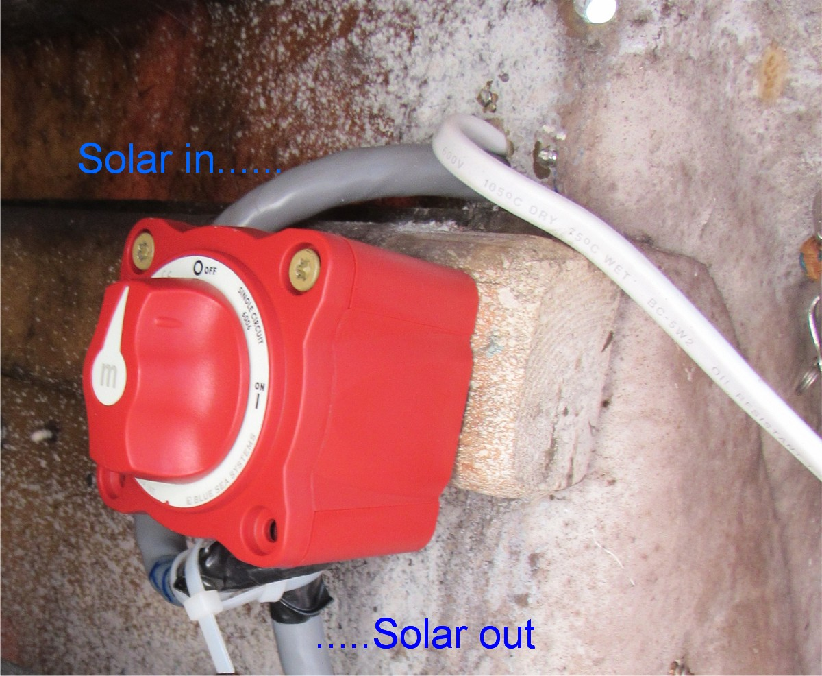 Adding Switch To Kyocera Solar Panel On Gemini Catamaran