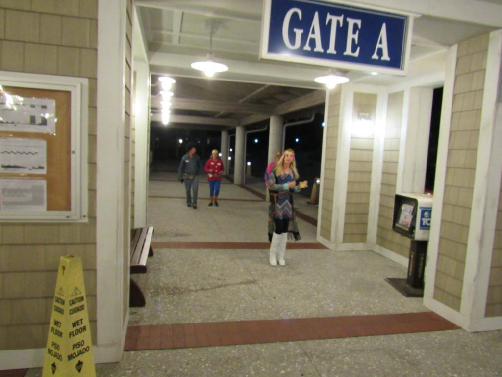 Several of us went down to the Ferry Terminal where janet gave out candy.