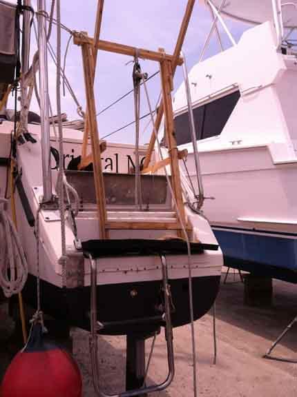 10 gantry Yacht A Fun Catamaran