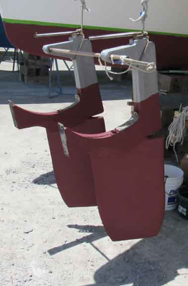 First coat, of two was Trinidad SR red